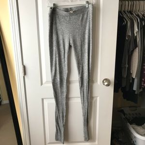 Free people fleece leggings Medium